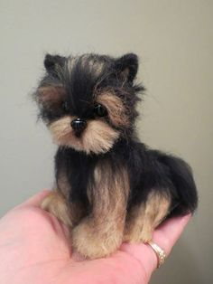 Yorkshire Terrier Puppy Cut I have a Yorkie so this is my favorite! ;) #feltedpuppy