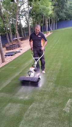 Sand infill and power brush and spray. Very important to look after your investment for the longevity of the product. Fake Grass, Landscape Services, Look After Yourself, Outdoor Power Equipment, Outdoor Living, Outdoor Life, Outdoor Camping, Country Living, Outdoor