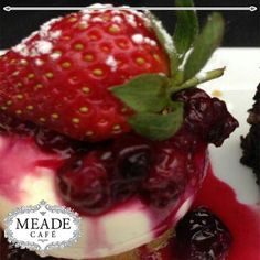 Visit Meade Cafe for our delectable desserts for that sweet tooth. From to delicious Pastries, Sweet Tooth, Strawberry, Cakes, Fruit, Desserts, Food, Tailgate Desserts, Deserts