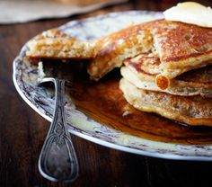 Maple Almond Pancakes {gluten free} | Thanks for making these for me Foodess.com! They were delicious.