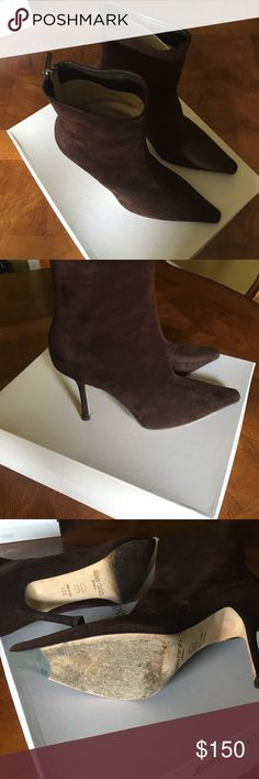 Jimmy Choo suede boots Used. In good condition. Perfect for the fall season. Jimmy Choo Shoes Ankle Boots & Booties