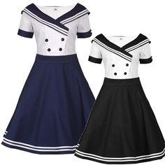 PinUp Sailor Dress for $40. #rockabilly #pinup #rockabillyfashion