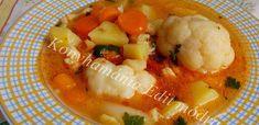 Érdekel a receptje? Kattints a képre! Goulash, Thai Red Curry, Stew, Cauliflower, Chicken, Meat, Vegetables, Ethnic Recipes, Food