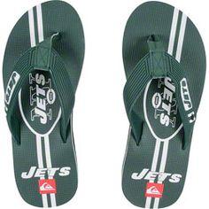 NEW ARRIVAL: New York Jets White & Green Quicksilver Flip Flop Sandals  http://www.fansedge.com/New-York-Jets-White-Green-Quicksilver-Flip-Flop-Sandals-_1249397015_PD.html?social=pinterest_pfid26-17727