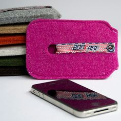 iPhone 4 Case iPhone 4S Case wool felt Pink by Bookase on Etsy, $20.00