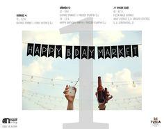 One year in: www.kaufvintage.com  Design: Javier Aiken Happy Birthday, Dj, Graphic Design, Vintage, Movies, Movie Posters, Party, Happy Brithday, Films