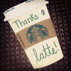 Starbucks themed Teacher Gift!