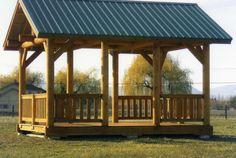 Log Picnic Shelter Plans