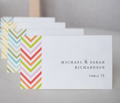 Wedding Place Cards by AlmostSundayInc at Etsy - $42.50