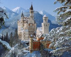 Neuschwanstein Castle,  Bavarian Alps, Germany