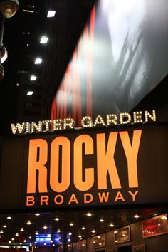 Up on the Marquee: ROCKY