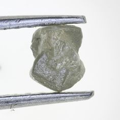 Natural Rough Silver Color Diamond, Unheated, Cube,0.84 Carat