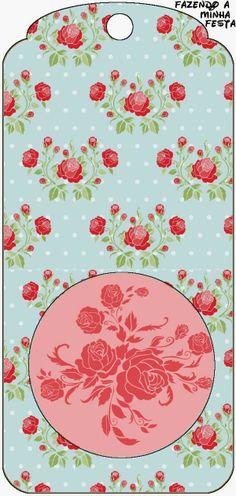 Rosas Rojas en Fondo Celeste: Tarjetería para Imprimir Gratis.