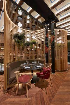 Bar Interior Design, Restaurant Interior Design, Outdoor Restaurant Design, Design Hotel, Lobby Design, Cafe Shop Design, House Design, Design Scandinavian, Deco Restaurant