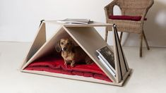 Nidin Coffee Table and Dog Den from Fabbricabois