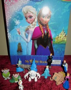 New Disney Movie Frozen Toy PVC Figures Lot Gift Set Cake Toppers with Book   eBay