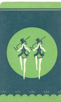 Dance 6 Art Deco Illustration, Lets Dance, Pretty Cards, Showgirls, Art Forms, Vintage Posters, Screen Printing, Playing Cards, Culture