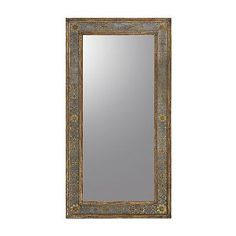 "Galway Clear Mirror. Hand-carved and intricately detailed, the Galway Clear Mirror features a luxurious botanical border. Exquisite handpainted gold accents on Eglomise highlight the stunningly clear mirror.39"" x 74""; 173 lbs. $2,699.00"