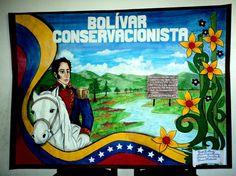 Cartelera escolar. Simón Bolívar Conservacionista. Dibujo, diagramación, idea e ilustración: Kelly Carrillo Sánchez. Hispanic Heritage, Grinch, 3, Vestidos, School Supplies, School Newspaper