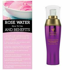 Younique Royalty Rose Water Toning Spritz... So many uses! www.thedivadonna.com