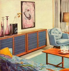 Blue Violet Rose From Better Homes and Gardens Decorating Ideas 1960.