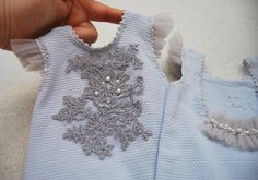 Newborn romper prop; Newborn girl outfit; Newborn Photo Prop; Lace Romper  So sweet and feminine this romper is! The fabric has great texture and a beautiful neutral blue-gray color. It is decorated on top with exquisite lace and on the back with tule and pearls. Perfect for a little lady in the first photo session.  Size: newborn Care instruction: please wash by hand, reshape and lay flat to air dry Ready to ship in: 3-5 days  This item was made with great care and love in a non-smoke and…
