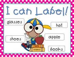 Labeling is such an important beginning reading and writing skill.  Children will enjoy labeling these really cute pictures.  Then, they can practi...