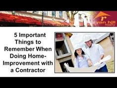 5 Important Things to Remember When Doing Home-Improvement with a Contractor http://ryanhillrealty.tumblr.com/post/90054064951/5-important-things-to-remember-when-doing http://www.ryanhillrealty.com/ - Things you should know to get you started on your home improvement. If you're looking for a trusted REALTOR® to help with your Naperville luxury home for sale, or for any real-estate related concerns, call Teresa Ryan at 630-276-7575. Teresa Ryan is the owner/broker of Ryan Hill Realty.