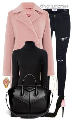 """Classy Gal"" by highfashionfiles ❤ liked on Polyvore featuring Frame Denim, MaxMara, Gotha, Givenchy, Aleksander Siradekian and Rolex"