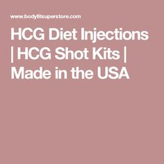 HCG Diet Injections | HCG Shot Kits | Made in the USA