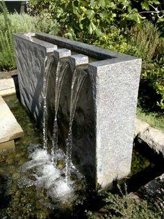 Water Wall Fountain, Backyard Water Fountains, Outdoor Wall Fountains, Garden Water Fountains, Backyard Water Feature, Ponds Backyard, Modern Water Feature, Outdoor Water Features, Pool Water Features