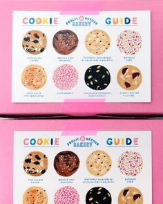 Frolic & Detour by Paulina Ho - Grits & Grids® Baking Packaging, Cookie Packaging, Brand Packaging, Menu Design, Box Design, Graphic Design Posters, Graphic Design Illustration, Packaging Design Inspiration, Graphic Design Inspiration