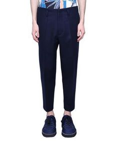 MARNI Navy wool pants. #marni #cloth #
