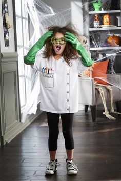 Weird Scientist T shirt Costume