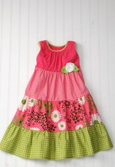 Buying this for Abby! Pink Daisy A-Line Dress - Toddler & Girls by Red Currant Kids on today! Little Girl Summer Dresses, Cute Girl Dresses, Toddler Girl Dresses, Little Girl Dresses, Toddler Girls, Cute Things For Girls, Frocks For Girls, Sewing Clothes, Baby Dress