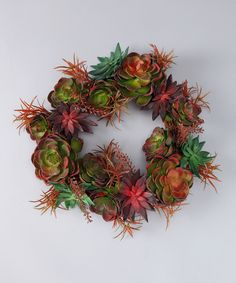Echeveria Wreath  An attractive addition to any door, this pretty, ever-blooming wreath will look wonderful greeting friends and family alike as they enter for years to come.