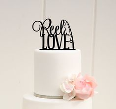 Hey, I found this really awesome Etsy listing at https://www.etsy.com/listing/222933714/reel-love-fishing-wedding-cake-topper