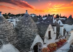 """Alberobello sunset - You can follow my work at...<a href=""""https://www.facebook.com/carmassi.marco""""> Facebook</a> Click sul bellissimo portale  dedicato alla Puglia <a href=""""https://www.facebook.com/apuliatravels/?fref=ts""""> Facebook</a>  Alberobello literally """"beautiful tree"""") is a small town and comune of the Metropolitan City of Bari, Apulia, southern Italy. It has about 10,700 inhabitants and is famous for its unique trulli buildings. The Trulli of Alberobello have been designated as a…"""