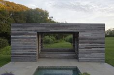 contemporary patio by d'apostrophe design Landscape Architecture, Interior Architecture, Landscape Design, Contemporary Patio, Exterior Cladding, Modern Landscaping, Beautiful Space, The Great Outdoors, Pond