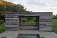 contemporary patio by d'apostrophe design, inc....great facade.