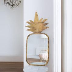 Fruity Brass mirror- Large Pineapple