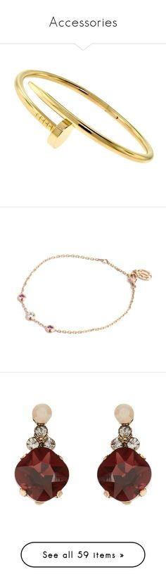 """""""Accessories"""" by avengersluva ❤ liked on Polyvore featuring bangles, red, jewelry, bracelets, rose gold jewelry, cartier bangle, 18 karat gold bangles, rose gold bangle, 18k jewelry and earrings"""
