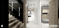 Projekt przedpokoju, klatki schodowej. - zdjęcie od ARTDESIGN architektura wnętrz - Hol / Przedpokój - Styl Nowoczesny - ARTDESIGN architektura wnętrz