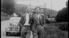 jack and laurie lee above rosebank. 1940s?