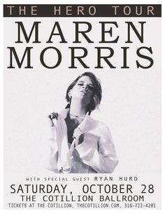 """Sheer talent, honest lyrics and a completely magnetic presence.  """"Can I get a hallelujah, can I get an amen?"""" sings Texas-born, Nashville-dwelling Maren Morris on """"My Church,"""" the lead single from her self-titled LP. Though """"sing,"""" however, might not be the most appropriate verbiage – she belts, more like it, in her dynamic range that can growl soulfully one moment and twangily howl the next. It's an honest performance from an artist and writer who stands out for the singular point of view…"""