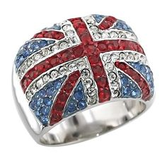 Union Jack Ring. Man if I could find a thinner ring than this, and some British guy gave it to me. I would probably marry him... of course when I'm older but still. He'd be my bffl and he would be mine forever. No one else could have him. Mine.