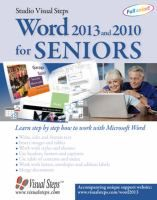 Word 2013 and 2010 for seniors : learn step by step how to work with Microsoft Word