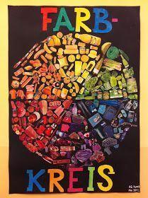 Diesen tollen Farbkreis hat die Kunst-AG Klasse) einer Münchner Grundschule… This great color wheel has the art AG class) of a Munich elementary [. Color Art Lessons, Op Art Lessons, Art Education Lessons, Art Lessons Elementary, Elementary Schools, Primary School Art, Art School, Munich, Kindergarten Architecture
