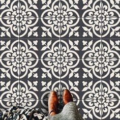 ENCAUSTIC STYLE MOROCCAN TILE DECAL  O R D E R . P A C K . I N C L U D E S QUANTITY : 44 tile decals SIZE : You can select the size from right side-