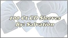 100 Pcs CD Sleeves,SALVATION CD Sleeves,GOD MADE,CD Paper Sleeves #CDSleevesSALVATIONCDSleevesGODMADECDPaper